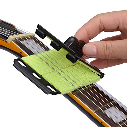 NO LOGO GWTRY Acoustic E-Bass Saitenreiniger Ukulele Banjo Quick-Set Pinsel-Werkzeug for Streichinstrumente (Color : Black)