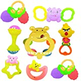 Sky Tech® Non Toxic Multi Colored Baby Rattle & Teether Toys for Kids