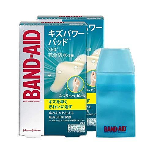 【Amazon.co.jp限定】BAND-AID(バンドエイド)キズパワーパッド ふつうサイズ 10枚×2個 ケース付き 防水 絆創膏
