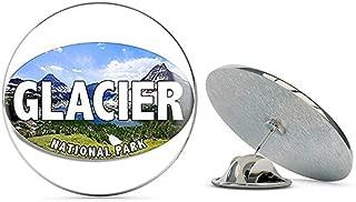 NYC Jewelers Oval Glacier National Park Lake (Montana Canada bc) Metal 0.75