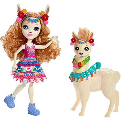 Enchantimals- Luella Llama y Fleecy Il Lama con Amico Cucciolo, Bambola da 15 cm con Accessori, Multicolore, sin Talla, FRH42