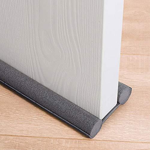 Kacoco 2 burletes para puertas de 94 cm, recortables para cada puerta, aislamiento acústico y cálido, protección de doble cara contra corrientes de aire, ruido y olores