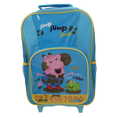 George From Peppa Pig Muddy Puddle Premium Wheeled Travel Bag