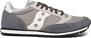 Men's Jazz Low Pro Classic Retro Sneaker, Grey/White, 12 M US