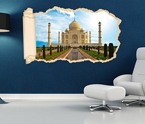 3D Wandtattoo Tapete tadsch mahal Skyline Indien Palast Durchbruch selbstklebend Wandbild Wandsticker Wohnzimmer Wand Aufkleber 11O1878, Wandbild Größe F:ca. 140cmx82cm