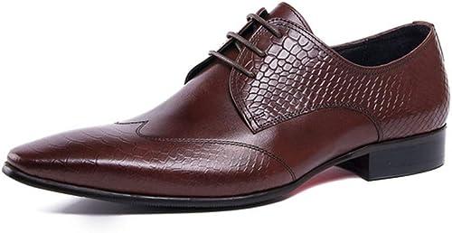Feidaeu Chaussures pour Hommes d'affaires Chaussures Chaussures de Smoking Formelles Hommes Chaussures habillées Costumes en Cuir Chaussures Hommes  qualité authentique