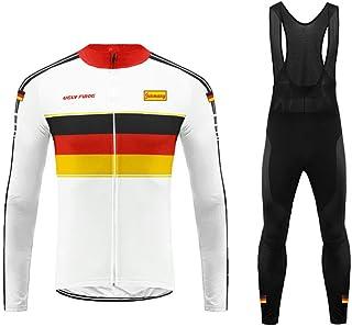 Uglyfrog Bike Wear Vestiti Ciclismo Magliette Jersey+Long Bib Pantaloni Tight Body Sets Uomo Winter Fleece Mountain Bike M...