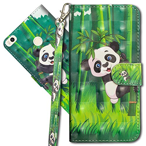 MRSTER Funda para Xiaomi Mi MAX 2, 3D Brillos Carcasa Libro Flip Case Antigolpes Cartera PU Cuero Funda con Soporte para Xiaomi Mi MAX 2. YX 3D Panda Bamboo