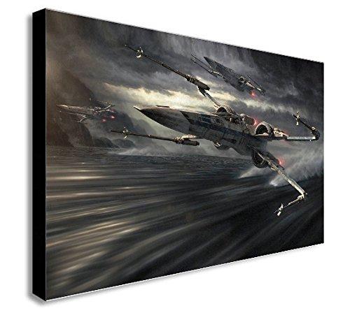 X Wing Star Wars Leinwand, Kunstdruck für die Wand, verschiedene Größen, holz, A1 32x24 inch