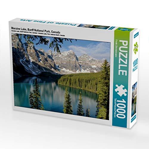 CALVENDO Puzzle Moraine Lake, Banff National Park, Canada 1000 Teile Lege-Größe 64 x 48 cm Foto-Puzzle Bild von Frank Zimmermann
