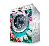 setecientosgramos Vinilo Lavadora | Stickers Washing Machine| Pegatina Lavadora | Tulips II