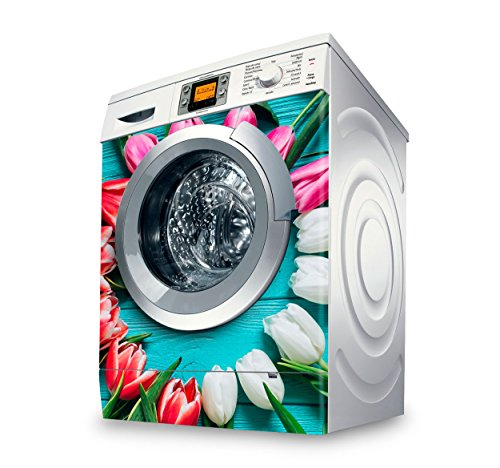setecientosgramos Vinilo Lavadora | Stickers Washing Machine| Pegatina Lavadora | Tulips II