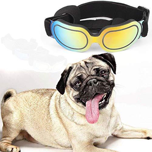 SDGDF Occhiali per Animali Domesticiocchiali da Sole Eleganti per Cani Occhiali da Sole Cat UV Occhiali Puppy - Occhiali Antivento Regolabili Puppy.