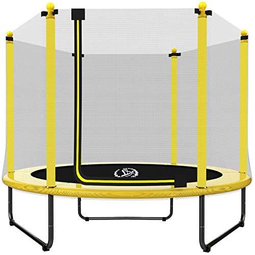 Langxun 5FT Trampolino da Interno/Esterno (152,4 cm) | per Bambini/Bambini Migliori Regali di Compleanno Strumenti per Esercizi