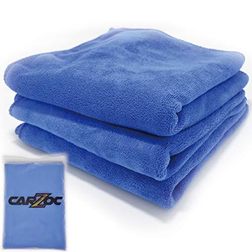 【 CARZOC 】 最優秀賞受賞 マイクロファイバー 超吸水 タオル 洗車職人のこだわり 洗車の時短に 3枚セット...