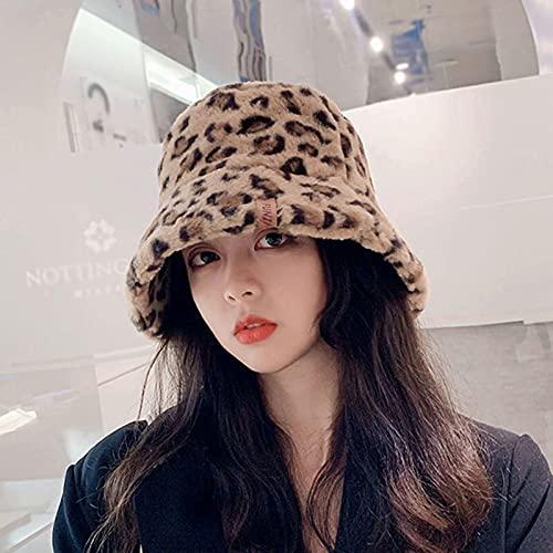 JSJJAUJ Cappelli Autunnali e Invernali Cappello della Secchiello della Peluche di Inverno Femminile Cappello Caldo del Pescatore di Colore Solido (Color : D, Size : One Size)