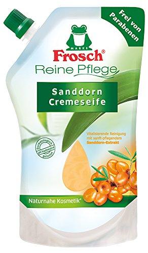 Frosch Reine Pflege Sanddorn Pflegeseife 500 ml Nachfüllbeutel, 3er Pack (3 x 0.5 l)