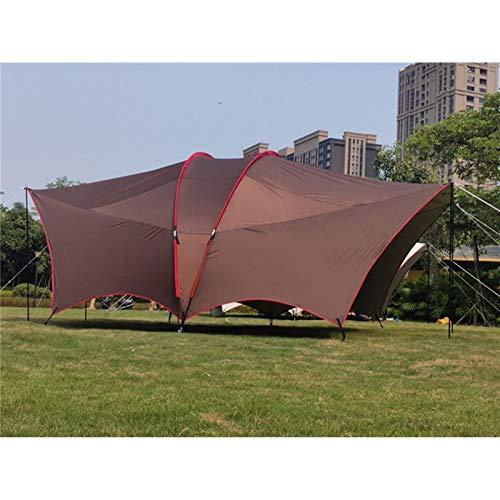 Toldo de Refugio Toldo de la Playa Toldo Pérgola Travel Car Tent Park Senderismo al Aire Libre Toldo para Viajes de Senderismo (Color : Coffee, Size : 600x450x250cm)