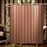 ABRAN Duchas de Cobre con Ganchos de Ducha Placa de Cobre Cepillado Fachada Ilustración Elemento Industrial Resistente Arte Moderno B Melocotón Color chocolate18