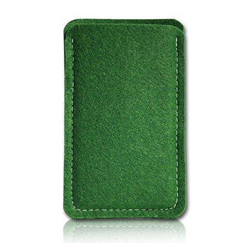 sw-mobile-shop Filz Style Mobistel Cynus E4 Premium Filz Handy Tasche Hülle Etui passgenau für Mobistel Cynus E4 - Farbe dunkelgrün