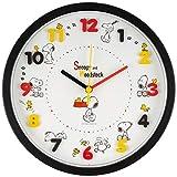 スヌーピー 壁掛け時計 アイコンウォールクロック アナログ表示 連続秒針 ブラック 736508