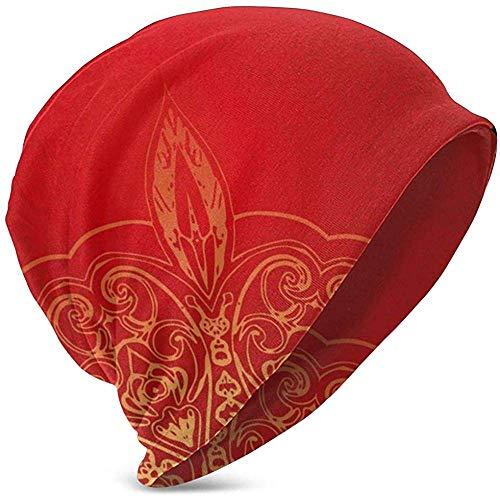 GodYo zachte Slouchy Beanie Baggy Skull hoed, romantische vintage perzische traditionele zachte toon vormen en designs, teeen gebreide muts stijl