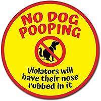 犬オシッコ・ウンチ禁止 サイン ステッカー シール/サインボード (丸型 (30cm), サインボード)