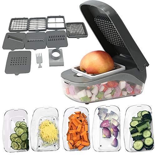 SHATANG Multifuncional cortador de verduras cortador de frutas rallador triturador de drenaje cesta rebanadores 10 en 1 Gadgets accesorios de cocina