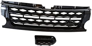 RC Trading Black Grille and Side Vents Compatible for 05-09 Land Rover Discovery 3 LR3 Facelift to 2015,2016 LR4 CI