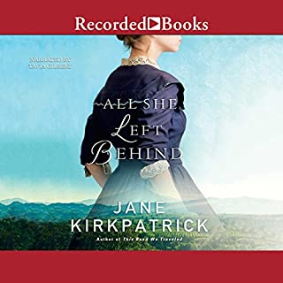 All She Left Behind                   By:                                                                                                                                 Jane Kirkpatrick                               Narrated by:                                                                                                                                 Tavia Gilbert                      Length: 10 hrs and 44 mins     1 rating     Overall 4.0