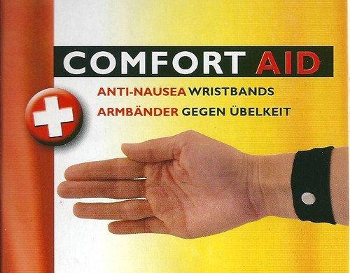 Comfort Aid 4 armbanden tegen misselijkheid (zwart)