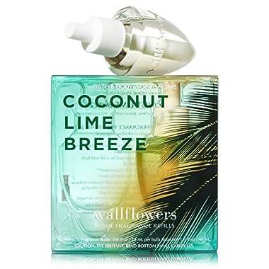Bath & Body Works Wallflowers Home Fragrance Refill Bulbs Coconut Lime Breeze 2 Pack