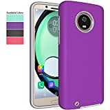 Moto G6 Case,NiuBox Gear Textured Slim Fit Dual Layer [PC + TPU Hybrid] Anti-Slip Shock Absorption Protective Phone Case Cover for Motorola Moto G6 (2018) - Purple