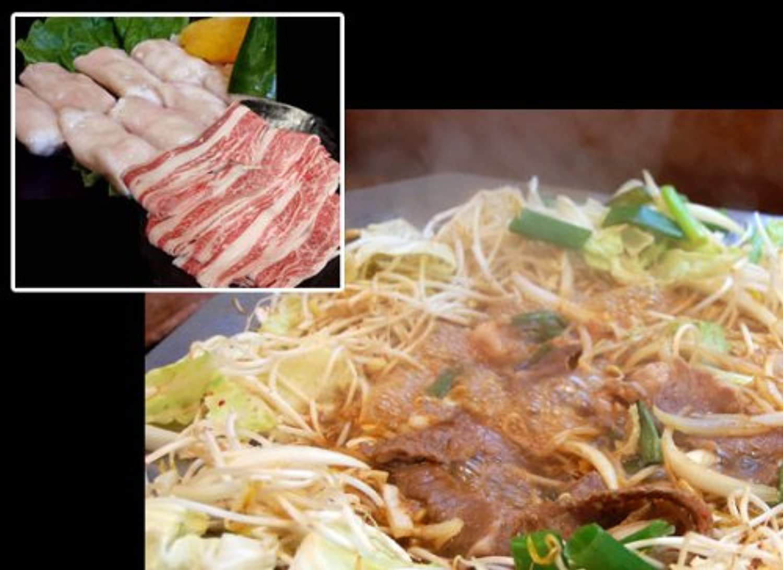 黒毛和牛カルビ?丸腸たき鍋セット2~3人前用800g(しゃぶしゃぶ?すき焼き)