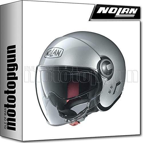 NOLAN CASCO MOTO JET N21 VISOR CLASSIC PLATINUM ARGENTO 001 TG. M