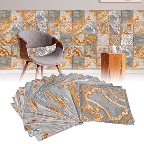 Gind Adhesivo de Pared, Adhesivo para Azulejos, PVC Hermoso 24 Piezas para Madera, Porcelana, cerámica, Vidrio