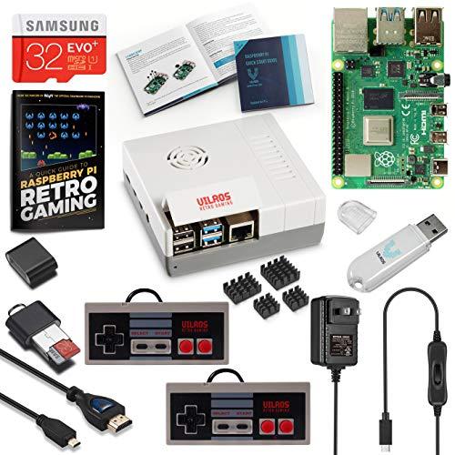 Vilros Raspberry Pi 4 8 GB NES Style Retro Gaming Kit - inkl. 2 NES Style Gamepads und NES Style Case