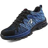 SUADEEX Mujer Hombre Zapatillas de Seguridad Deportivos con Puntera de Acero S1 Zapatos de Trabajo Entrenador Zapatillas de Senderismo Unisex Zapatilla de Deporte Estilo