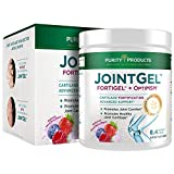 Joint Gel Formula from Purity Products - Bioactive Collagen Peptides + MSM - Supports Joint Function + Flexibility while Fortifying Joint Cartilage - Dual Action, Berry Flavored Powder - 28 Day Supply