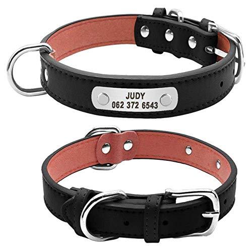 Hundehalsband Großes, langlebiges, personalisiertes Hundehalsband, mit Leder gepolstertes Haustier-Halsband, das für kleine, mittelgroße Hunde geeignet ist