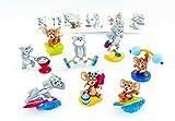 Kinder Überraschung 1 juego de figuras de Tom y Jerry. Las 8 figuras y 8 folletos de la serie