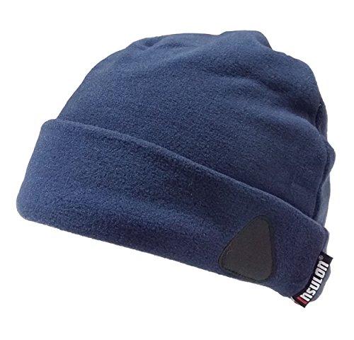Henry Ensemble Bonnet d'hiver Gants Thermique Chaud Hiver Homme (Bleu Marine)