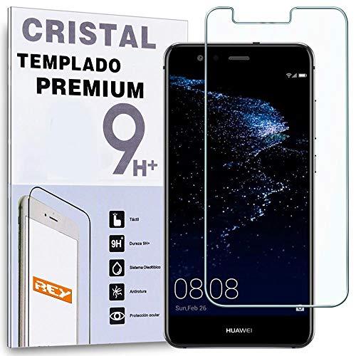 REY Protector de Pantalla para Huawei P10 Lite, Cristal Vidrio Templado Premium
