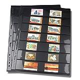 10 pagine in plastica PVC per collezionisti, con interno per francobolli, album, foglie, cartoline, banconote, foto, copertina non inclusa, Non null, Come da immagine, g