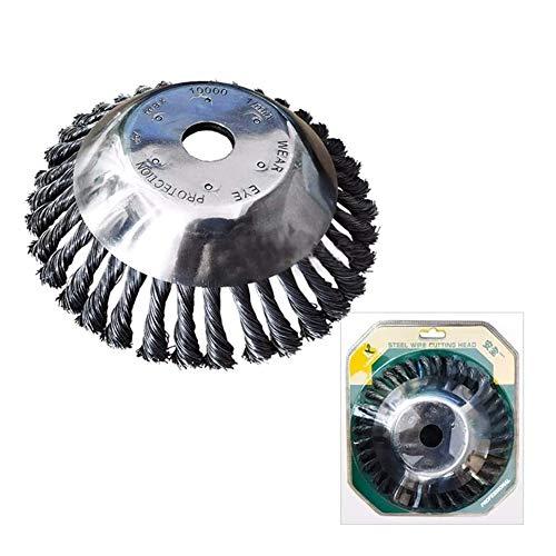 6/8 Inch Steel Wire Wieden Borstel Rotary Wheel Disc Garden Grasmaaier Grastrimmer Bosmaaier Tuingereedschap Tuingereedschap