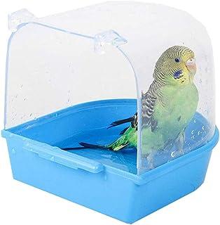 QQRR Baignoire Perroquets, 13 * 13 * 13.5cm Baignoire à Suspendre pour Perroquet, Accessoires de Cage à Oiseaux, pour Chat...