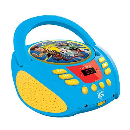 Lexibook Disney Toy Story Buzz & Woddy Boombox CD-speler, microfoonaansluiting, AUX-ingang, AC-werking of werkt met batterijen, blauw, RCD108TS