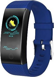 SHOUHUAN Pulsera de Actividad Inteligente Reloj Inteligente Hombre Mujer con Pulsómetro y Presión Arterial Reloj Deportivo Podómetro GPS Impermeable IP68 Cronómetro para Android iOS Blue