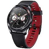 Honor Reloj Magic SmartWatch de 1,2 Pulgadas AMOLED con Pantalla Táctil HD, Pulsómetro y Monitor del Sueño, 5 ATM, Impermeable, Notificación de Mensajes de llamada GPS Negro