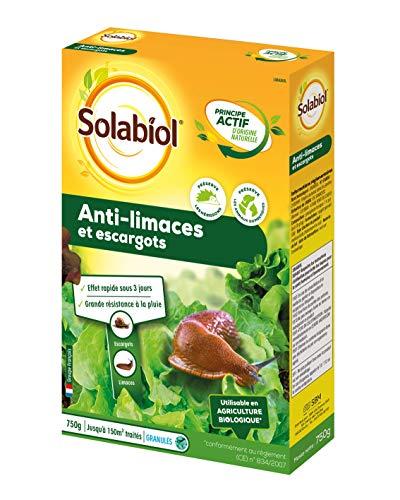 Solabiol SOLIMA750 Anti-limaces et escargots - Granules dorigine Naturelle 750g / 150 m2, Jaune